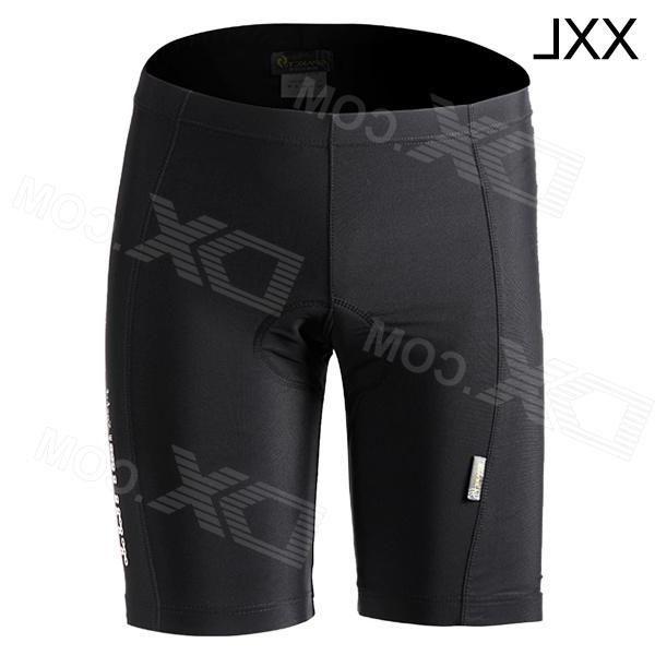 Spakct S13T08 Outdoor Sport Cycling Polyamide + Elastane Shorts for Men - Black (Size XXL)