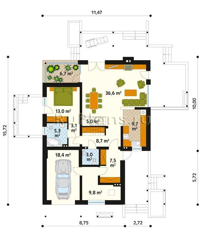 Типовой проект загородного коттеджа с мансардой R446. Проект одноэтажного дома  — удачный вариант недорогого, доступного, но при этом достаточного комфортного жилья для Вас и Вашей семьи. Небольшой экономичный загородный дом, который отлично впишется даже на небольшой участок земли. Планировка помещений решена очень рационально, при этом предусмотрены все помещения необходимые семье. В доме один жилой этаж. В данном проекте количество жилых комнат 3 , с удобной и рациональной внутренней…