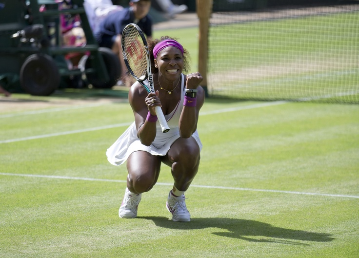 Serena Williams (Washington Kastles) celebrates her semifinal victory over Victoria Azarenka during the 2012 Wimbledon Championships.