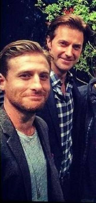 Richard Armitage and Dean O'Gorman at The Book of New Zealand event in LA Nov 30.