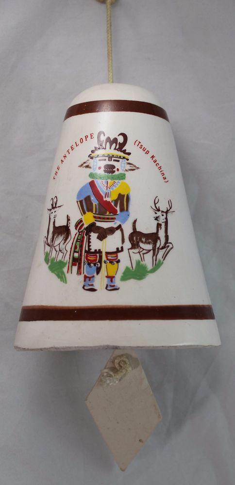 Southwestern Arizona Folk Art Wind Chime Bell The Antelope (Tsup Kachina)