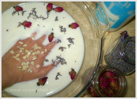 DIY Beauty: milk and oats hand soak
