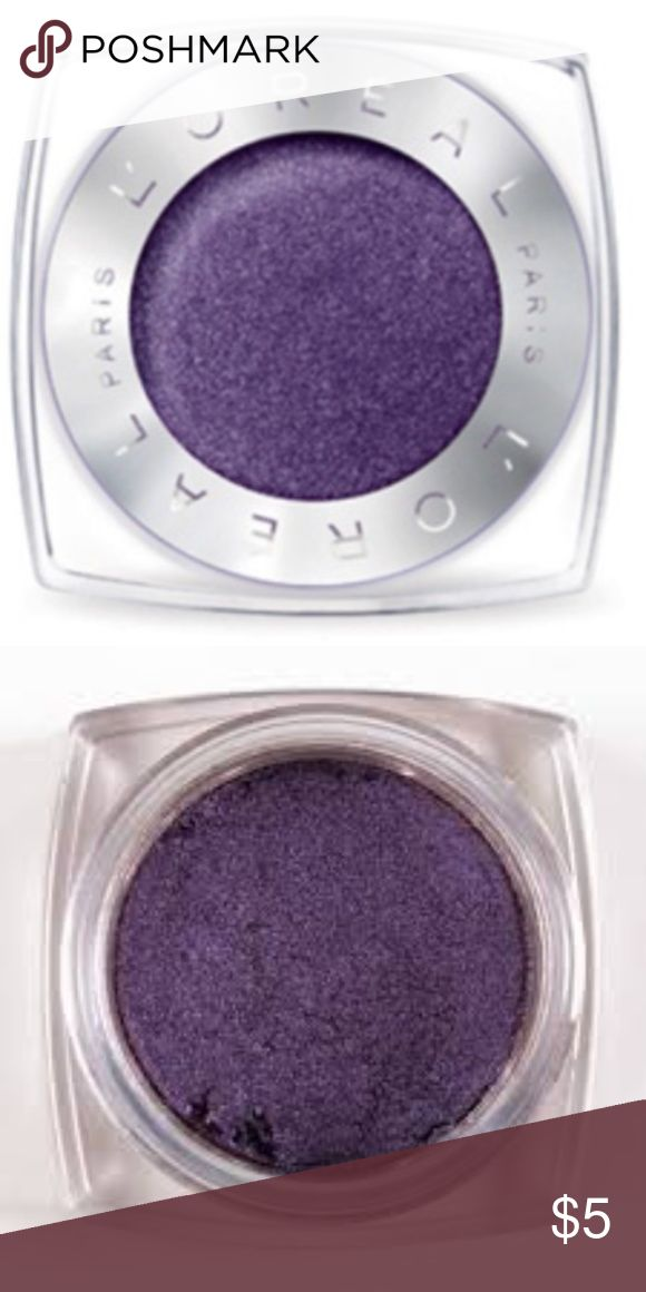 Brand New L'Oréal Paris Infallible 24HR Eyeshadow Brand New L'Oréal Paris Infallible 24HR Single Eyeshadow (currently retailing for $8) in the shade '555 - Perpetual Purple' ... only ever swatched!  -Intense, maximized color -Luxurious powder-cream texture -24-hour long-lasting hold -Waterproof, crease resistant, fade resistant L'Oreal Makeup Eyeshadow