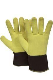 "National Safety Apparel Large 12"" Yellow And Brown 20 Ounce DuPont™ Kevlar® Heat Resistant Gloves With Duck Cuff, Wool And Cotton Lining And Wing Thumb"