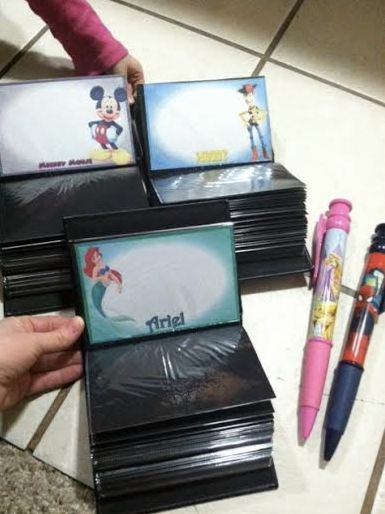 Easy (and cheap) idea for an autograph book - Use a photo album with customized cards for each character