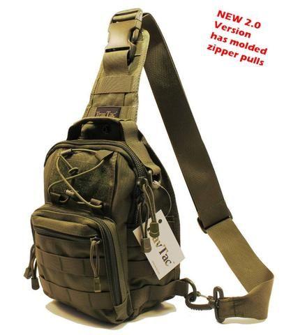 TravTac Stage I Sling Bag, Premium Small EDC Tactical Sling Pack 900D - Ranger Green - TravTac.com