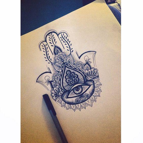 Hand of Fatima tattoo design by art8597 on DeviantArt