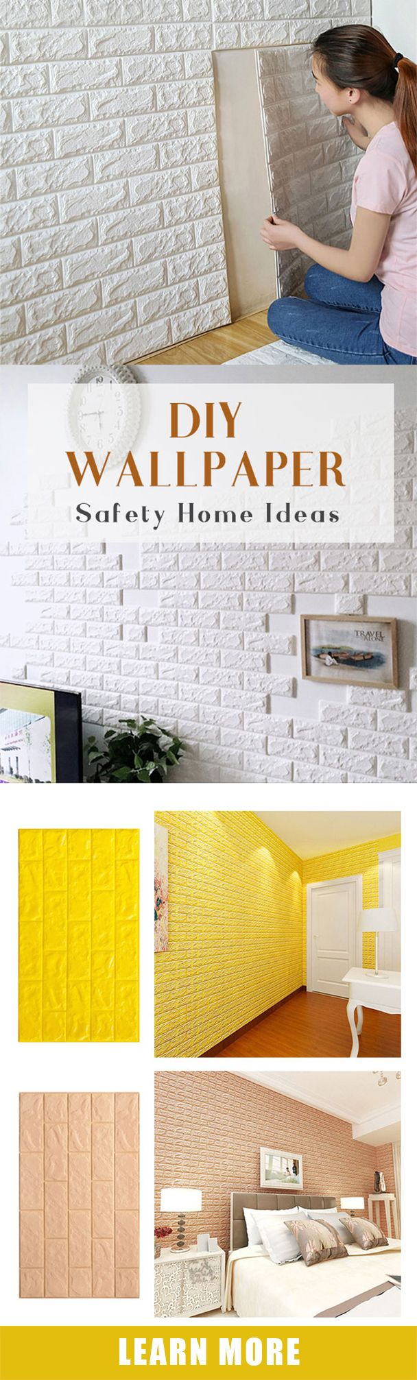 DIY the wall decoration with creative wall paper design#newchic#walldecor#wallart#living#kitchen#bedroom