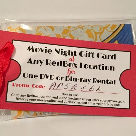 Redbox Movie Gift Tag Printable File You Print Projects To Try