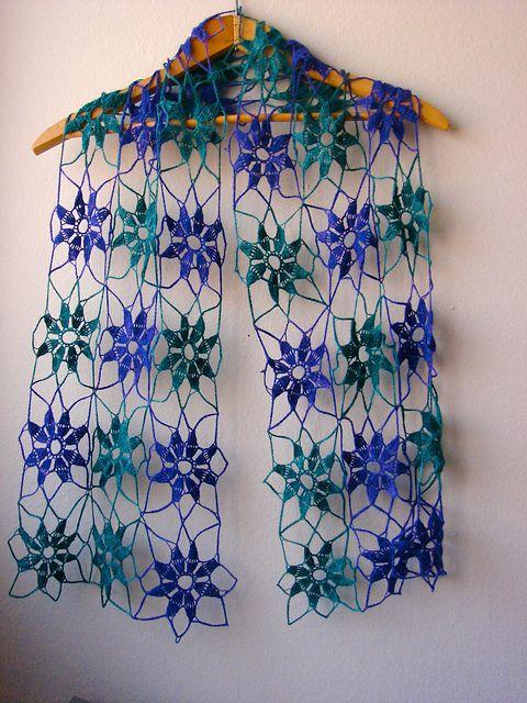 Vintage Lace Crochet Scarf by Dana Codding