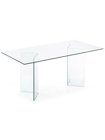 Per il vostro arredamento di classe proponiamo questo elegantissimo e prestigiosissimo tavolo interamente realizzato in vetro cristallo temperato trasparente. Con doppia base curvata e piano molato. Adatto per un ambiente classico o moderno, per soggiorno, studio, negozi, alberghi, ambienti di ricevimento di charme.