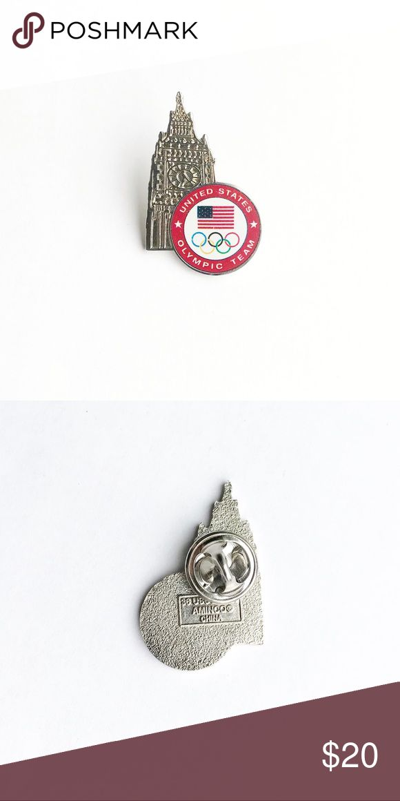 """2012 London Summer Olympics Enamel Pin 2012 London Summer Olympic Games Enamel Pin  • true vintage • 1  1/4"""" x 7/8"""" • colors: silver, red, white, blue, green, black, yellow, green • tags: Great Britain, Big Ben, England, sports, athletics, team, game, champions, winning, history, rings, gymnastics, swimming, sprinting, pole vaulting, volleyball, flag, stars, gold, bronze medal, USA, America, memorabilia, collectible, hat, jacket, vest, lapel • all of the pins I sell are vintage & may contain…"""