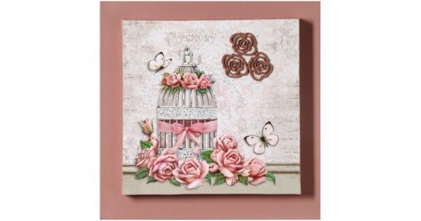 Lindo e delicado, o quadro sobreposto Rosa transmite toda asuavidade das flores e natureza para os ambientes, com aplique de gaiola e detalhes com borboletas, valorizando ainda mais a tela.Recomendado para vários ambientes.Composição: Quadro em tela sobreposta, aplicado uma estampa em pa