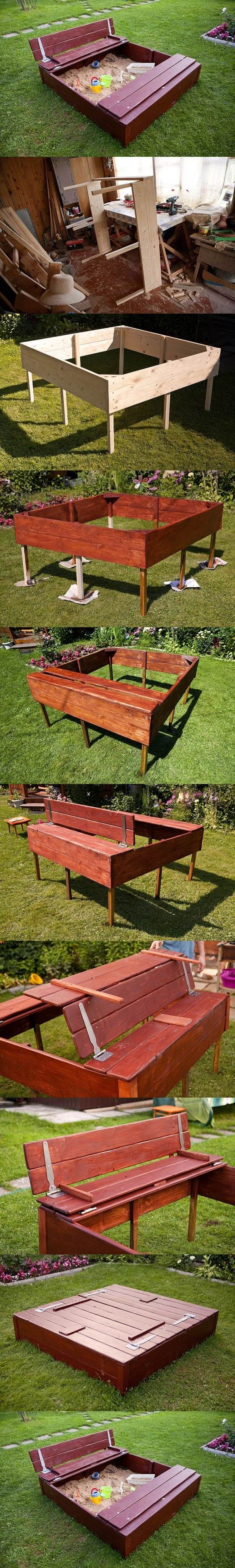 DIY Nice Sandbox for Kids | iCreativeIdeas.com LIKE Us on Facebook ==> https://www.facebook.com/icreativeideas