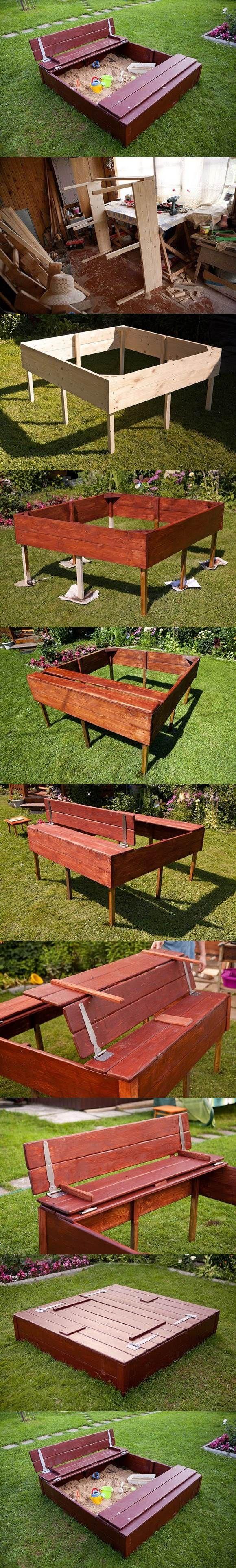 DIY Nice Sandbox for Kids | iCreativeIdeas.com Follow Us on Facebook --> https://www.facebook.com/icreativeideas