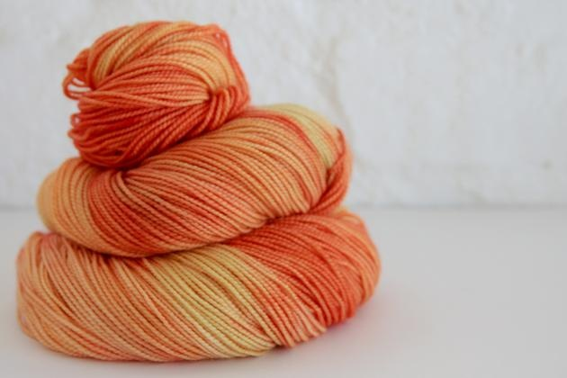 Hartlam Calvinia Sock: 80% merino, 20% nylon  For Building a Reef shawl - contender