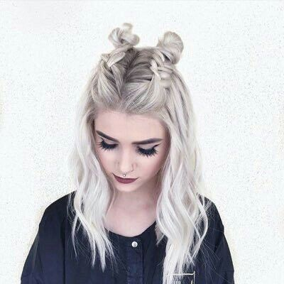 No color just cute hairstyle