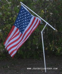 I want to build two of these for our campsite ~ one for the US flag and one for the Texas flag.  I also want to get solar spot lights so the flags will be illuminated at night.
