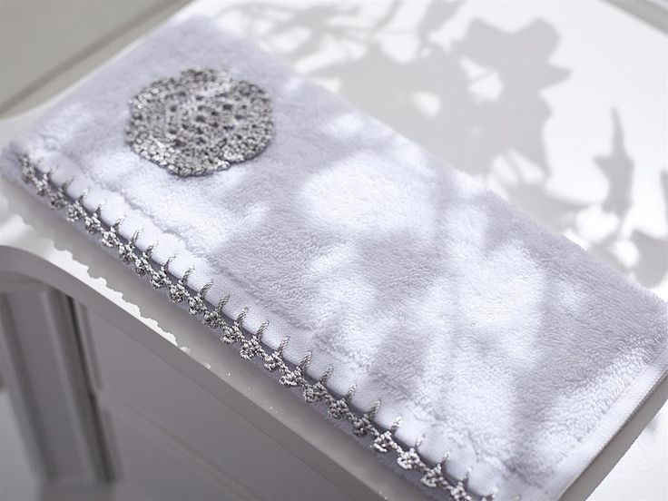 Sımın Dantelli Yüz Havlusu 50x90 Gümüş