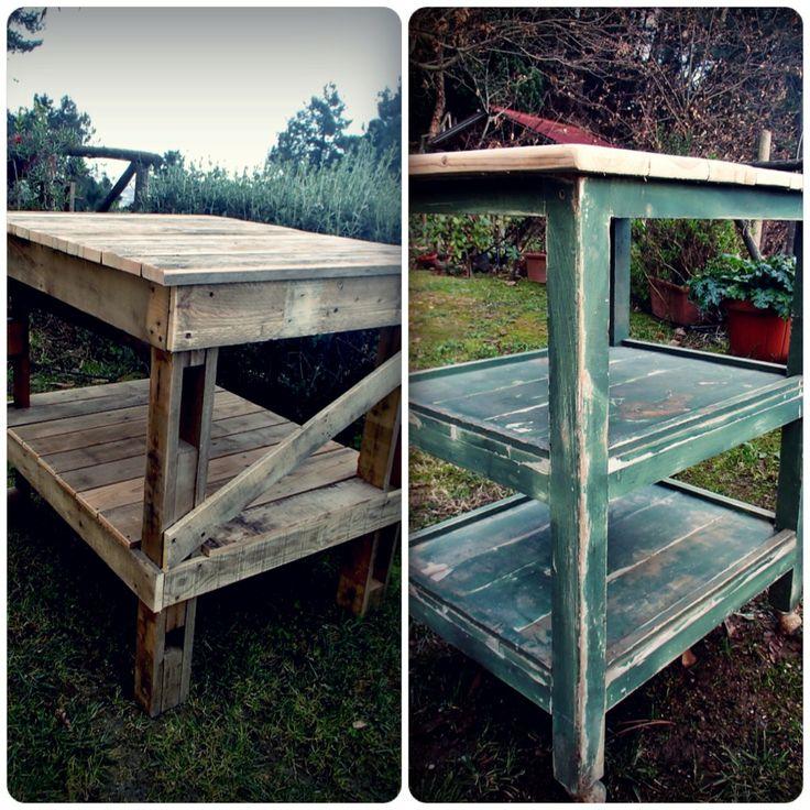 tavoli da lavoro vintage  # vintage  worktable # pallet wood # forte dei marmi # toscana # legno