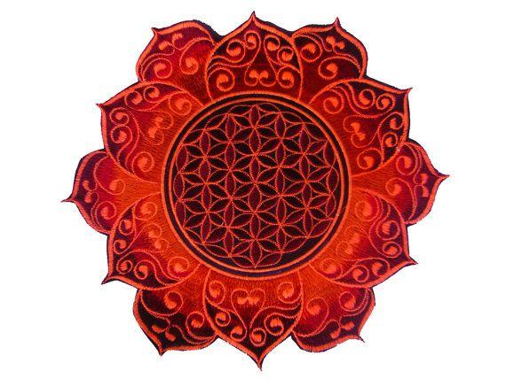 Flower of Life deepred celtic mandala holy by ImZauberwald on Etsy, €12.00