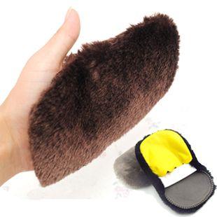 Головна необхідні догляд і обслуговування шкіряного взуття, крем для взуття, щоб очистити шерсть рукавички плюшевих взуття щітка Bootpolish (Китай (материк))