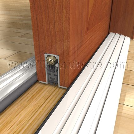 High Quality Automatic Door Bottom, Aluminum, Mortised, for Sliding or Pocket Doors, with Neoprene Seal, Sold by TMHardware.