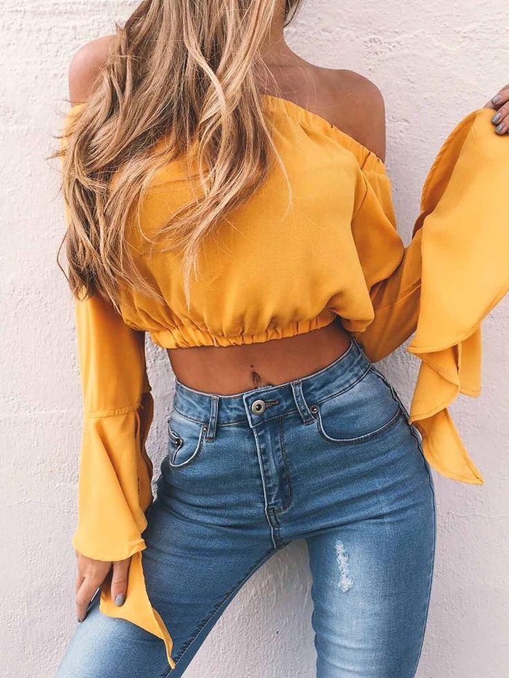 Ladies Short Sleeve Blouses