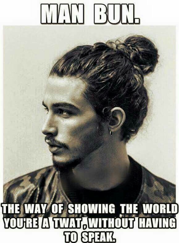 Not military. Still applicable.   Man bun hairstyles, Long ...
