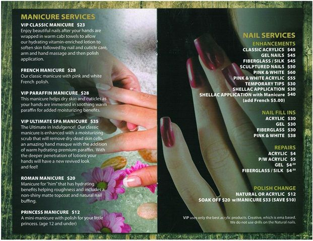 24 best images about spa service menus on pinterest for About salon services