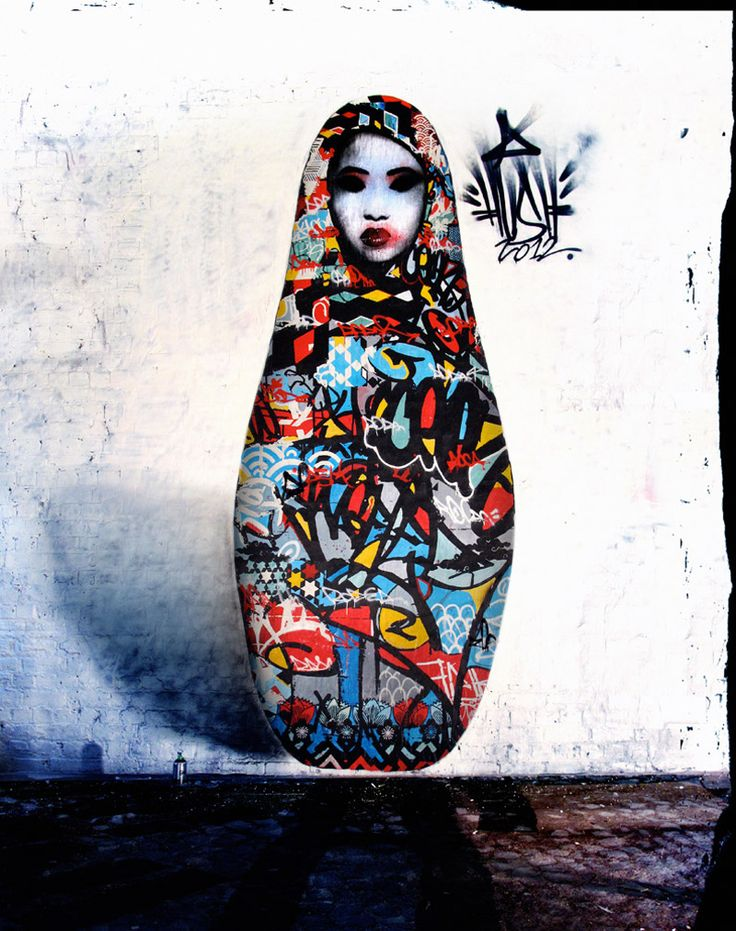 Doll, Japan-UK based Graffiti artist, Hush
