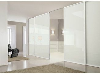 mampara divisoria de vidrio lacado con puertas corredizas dea doimo cityline