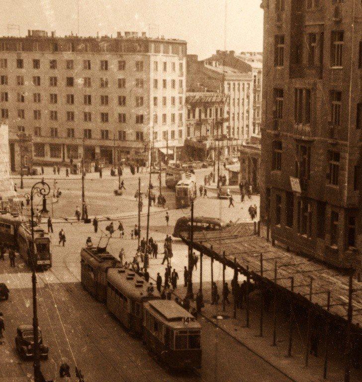 Warszawa - Plac Unii Lubelskiej (koniec lat 40. XX wieku)