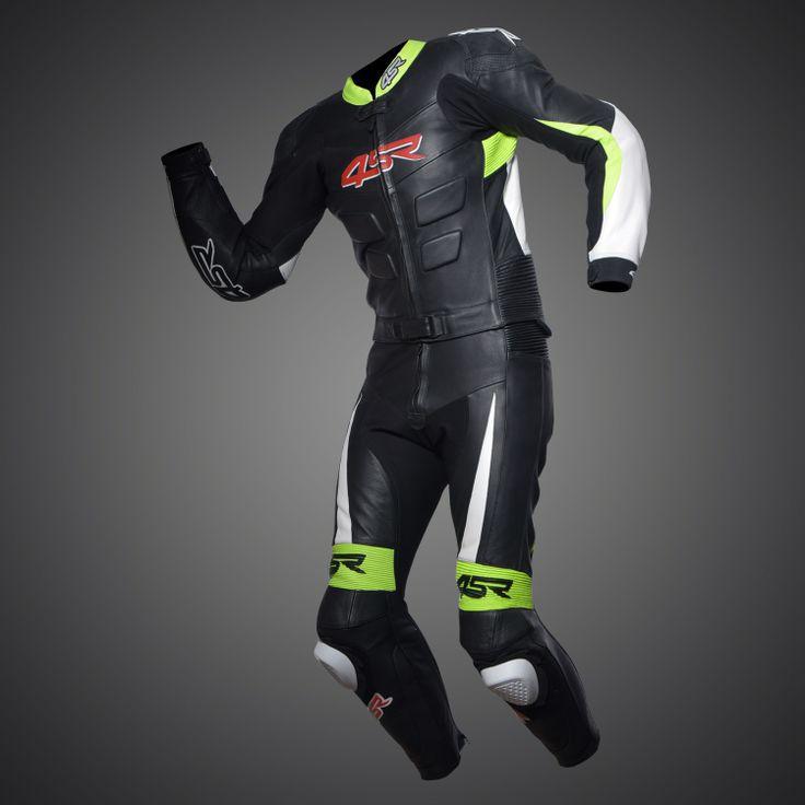 4SR RR Edition Reflex Green Evo leather suit