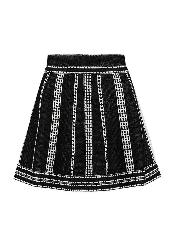 Nikkie skylar skirt black Zwart rok   62% Viscose - 30% Polyamide - 8% Elastane - Regular fit