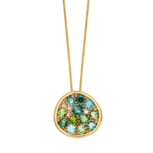 Bellini 18k Gold and Tourmaline Pendant from Hamilton Jewelers on shop.CatalogSpree.com, your personal digital mall.
