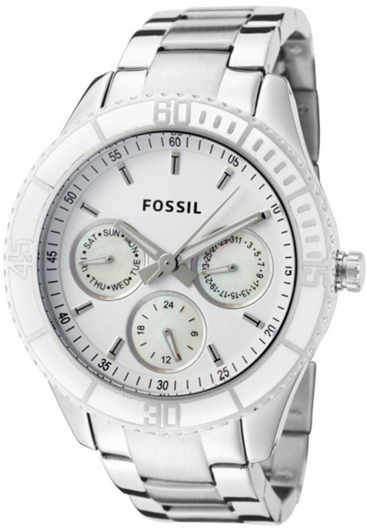 #Fossil Women's ES2783 Stella Stainless Steel Bracelet White Dial #Watch