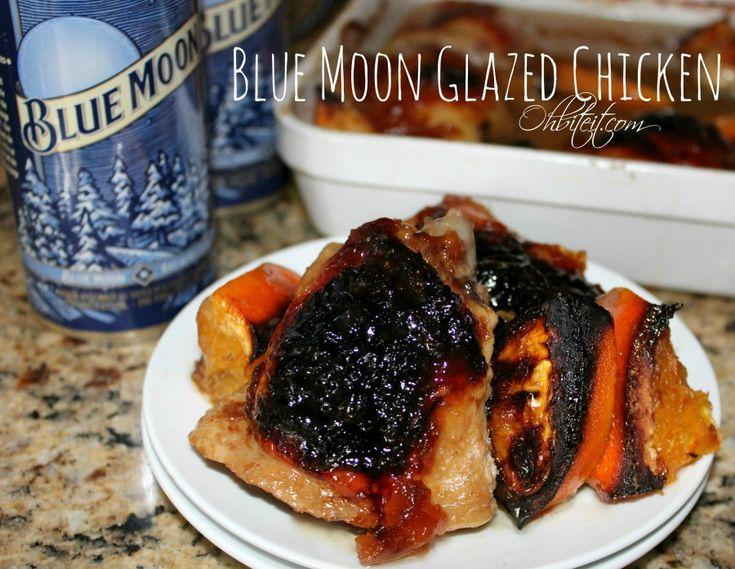 ~Blue Moon Glazed Chicken! | Oh Bite It