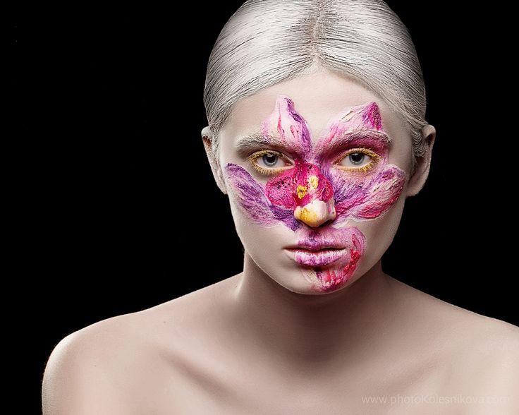 бьюти beauty creative makeup визаж женщина портрет цветок лилия визажист бьюти девушка арт