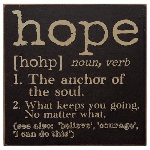 Hope Definition Sign