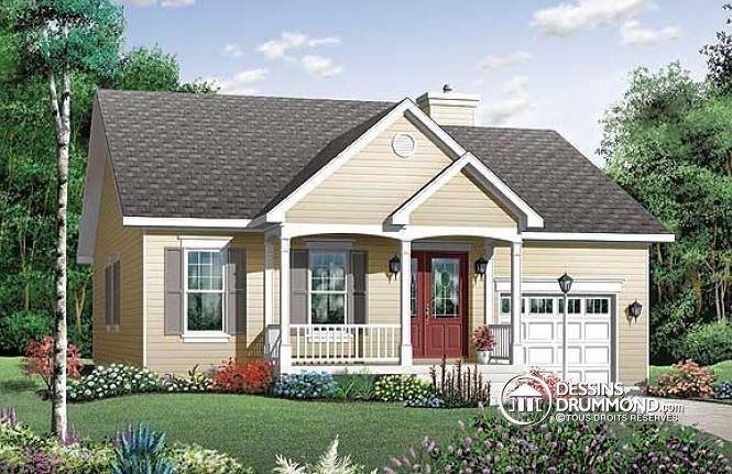 Un #bungalow des plus fonctionnels et abordables! Plan no. 3209, voyez une version fini ici #MasterSuite: http://www.dessinsdrummond.com/detail-plan-de-maison/info/1000415.html