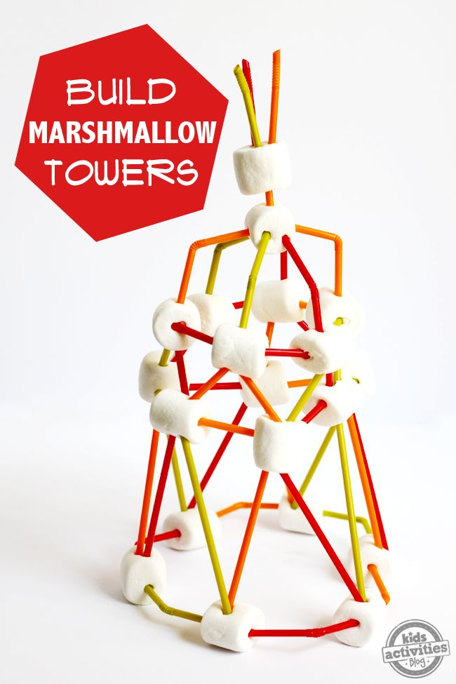 How To Build a (Jumbo) Marshmallow Tower. Turn it into a game by challenging the kids to build the tallest or most creative marshmallow structure possible! Click now!