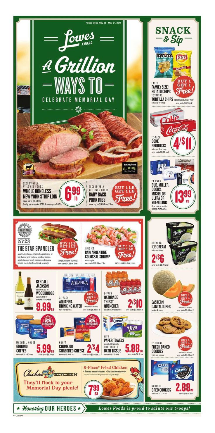 Pin by My Catalog on Weekly Ads Lowes food