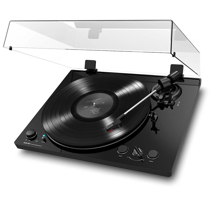 Akai Professional BT100 | Belt-Drive Turntable with Bluetooth Streaming & DC Motor (Piano Black)