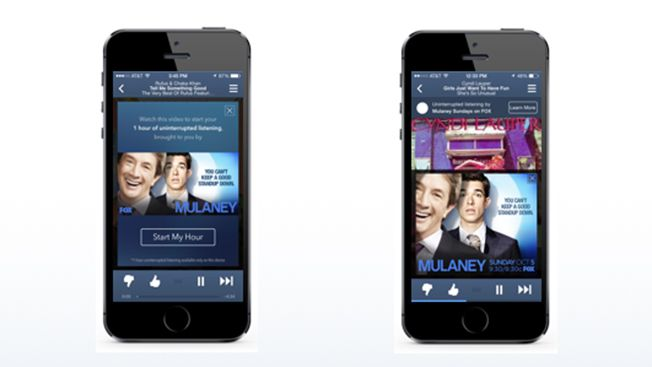 Pandora offers Free Music for watching Video Ad.