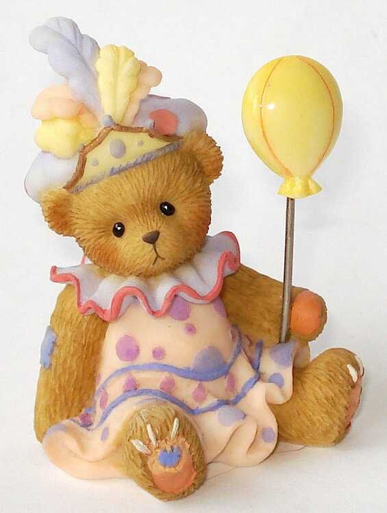 Heidi´s Cherished Teddies Galerie: DONAVON + MINI TEDDIE mit Fotoclip + Geschenkbox - 15.th Annyversary Maskenball - Come One, Come All, Come Dressed To Have A Ball (CT0015_set)