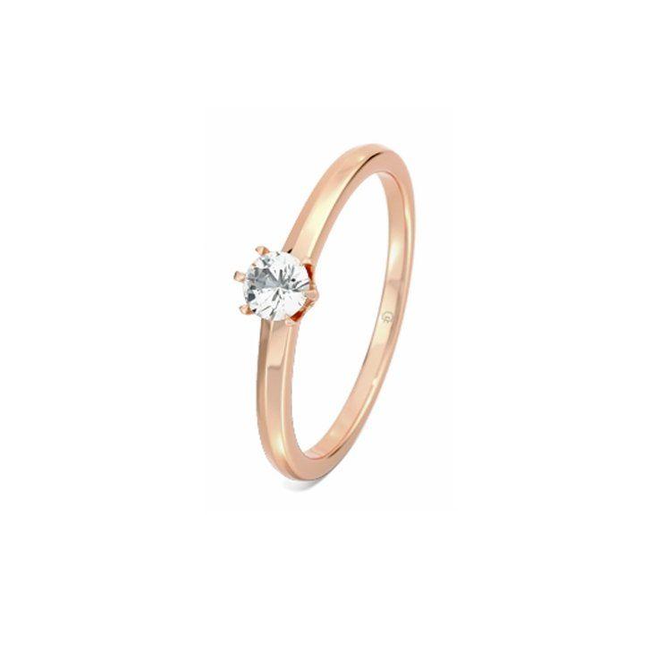 Pin for Later: Verlobungsringe aus Rotgold sind echte Multitalente  MERIDA Diamantring aus 585er Rotgold, 0.15 Karat (ursprünglich 723 €, jetzt 601 €)