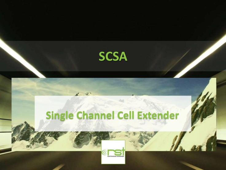 Single Channel (SCSA) Cell Extender via Slideshare  http://www.slideshare.net/kunoichiau/single-channel-scsa-cell-extender