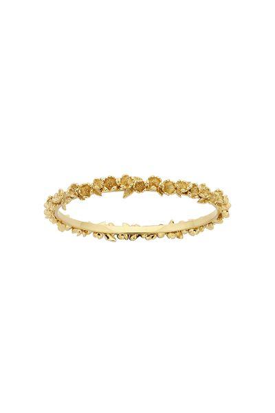 Wreath Bangle Gold 65mm - Karen Walker Jewellery | Karen Walker