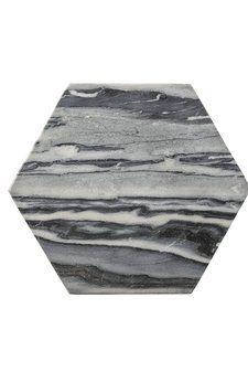 Grå sexkantig marmor bricka